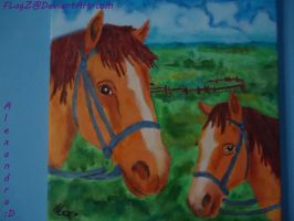 Horses Painting by FLagZ
