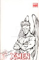 Angel on X-Men sketch cover by ToddNauck