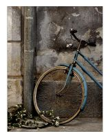 Blue Bike by EvaPolly