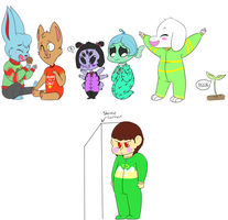Undertale Babies 2 by v0nnie