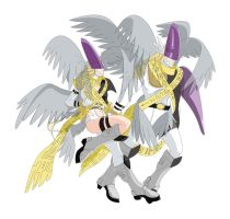 Holy Angemon - Holy Angewomon by Elizabeth2003