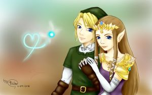 Valentine Day, Link and Zelda by minor-heaven