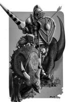 Triceratops Knight Dungeons And Dragons by zelldweller