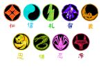 Ronin Warrors/Yoroiden ST Symbol Guide by Warlord-of-Noodles