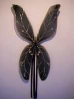 Black and Gold party wings by KimsButterflyGarden