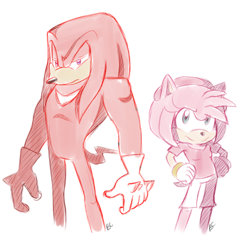 'Sonic Boom' :Knuckles n Amy: by Mitzy-Chan
