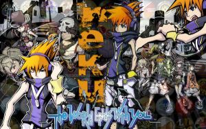 Neku, The World Ends with You by PhotoshopSketch