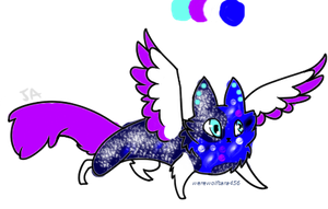 space cat adopt (CLOSED) by waterflamewerewolf