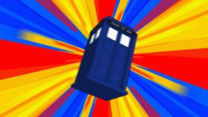 TARDIS in flight through a psychedelic time vortex by AbelMvada