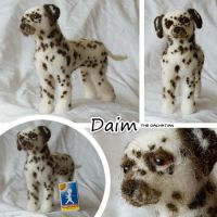 Needle felted dalmatian by Cemina
