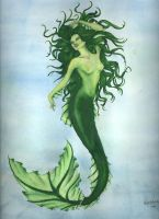 Green MerWoman by Eidelonn