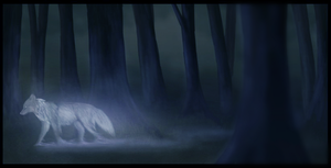 Ghost Wolf by mereni