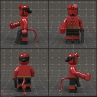 Hellboy Lego Minifigure by Volatile-Vertex