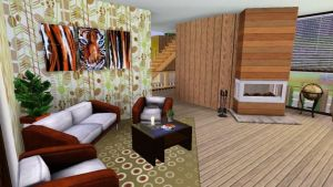 Sims 3 house Living room by MarosStefanovic
