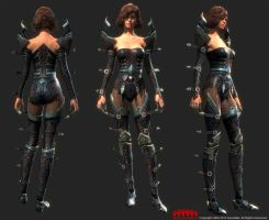 guild wars 2 GW2 female armor Profane by DimensionalDrift