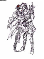:: Warrior Couple Concept Sketch :: by Sangrde