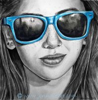 Girl with Sunglasses by jennife22