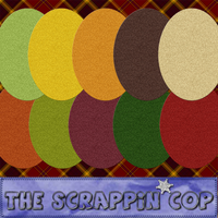 ScrappinCop Felt Layer Styles by debh945