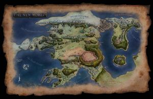 Macroschism: Map of the New World by Swordflash4