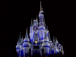 Icicle Lighted Cinderella Castle by Dream-finder