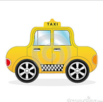 Cartoon Yellow Taxi Car by zonnyjhon