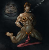 Buff Slave Leia by Selkirk _COLORS_ by carol-colors