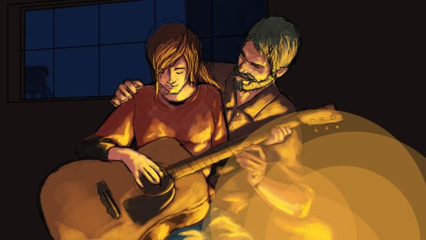 The Last of Us Sketch (a study of colors) by Hitokirisan