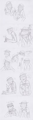 Janitor sketches by Creeperchild