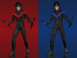 Batman Arkham City - Nightwing by IshikaHiruma