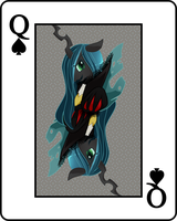 Queen of Spades: Chrysalis v2 by CherryPaintPony