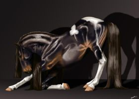 Bowing stallion by LinnestoftasEternal