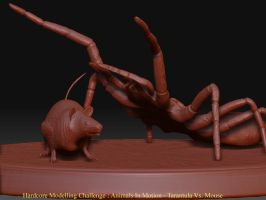 Tarantula Vs Mouse by octopus7