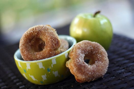 Apple donuts by laurenjacob
