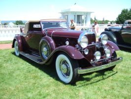 1932 Lincoln KB Convertible Coupe by LeBaron by Aya-Wavedancer
