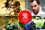 90 Premium Photoshop Actions by C3CreativeSpace