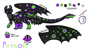 Poison my new night fury oc by rayne170