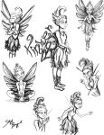 Tinker Bell - Sketches by neverland23