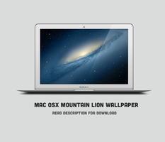 Mac OSX Mountain Lion Wallpaper Galaxy by theminimalisto