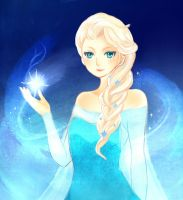 Elsa the snow queen by Rovanette