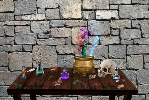 Potion Table by Hur-Dur