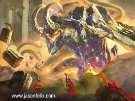 Earth Elemental Ram!!!-Magic The Gathering by jason-felix