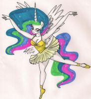 Princess Celestia in Tutu by newyorkx3