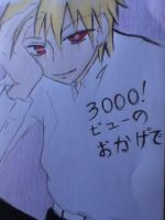 Thanks for 3000 views by tessi-san