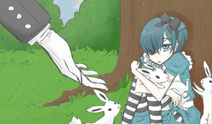 Ciel in Wonderland by Shinu-Ookami