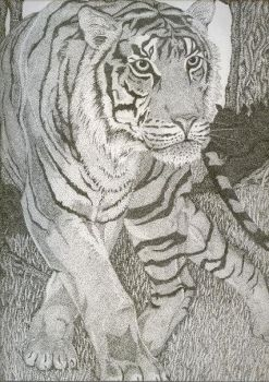 'Jungle Prince' stipple by mykopath