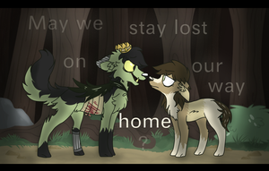 may we stay lost on our way home by cyaf
