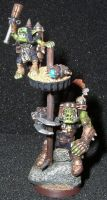 Ork Nob and Rocket Grot by Arcty