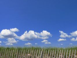 beach picket fence by sarahbbutler