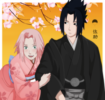Sasusaku -Art trade by Uchiha-Texugo