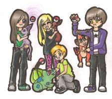 Me, my friends and our Pokemon by AshFantastic